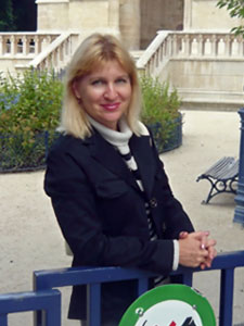 Автор в Париже около башни Сен-Жак