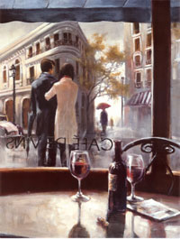 Вид из окна кафе (художник Брент Хейтон)