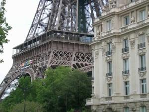 Вид на Эйфелеву башню с Сены