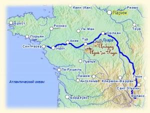 Карта Луары