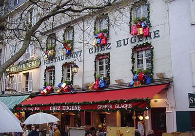 Улицы Парижа в Рождество