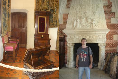 Внутренние интерьеры замка Амбуаз