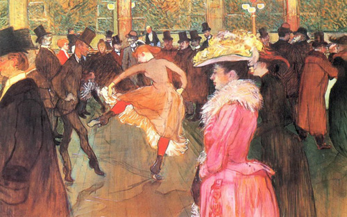 "Тулуз-Лотрек ""Танец в Мулен Руж"", 1890"