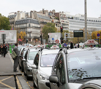 Стоянка парижских такси