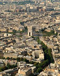 Вид с высоты эйфелевой башни