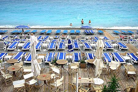 частный пляж в Ницце