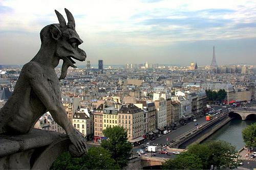 фото города Парижа с Нотр-Дам