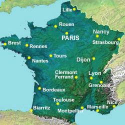 Города франции список