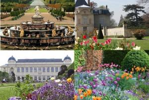Версаль, Мальмезон, Живерни, Ботанический сад (по часовой стрелке)
