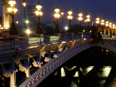 Фото ночного Парижа