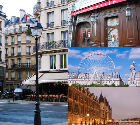 "1 округ Парижа-улица Риволи, ресторан ""Максим"", сад Тюильри, Консьержери"