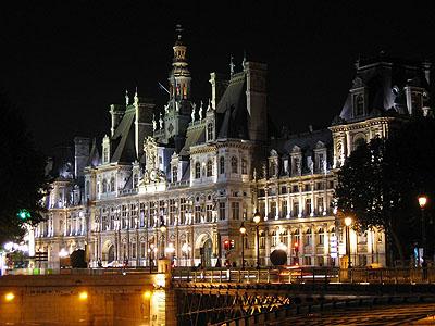 Отель-де-Виль ночью