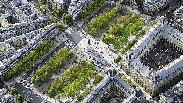 Площадь Республики в Париже-2