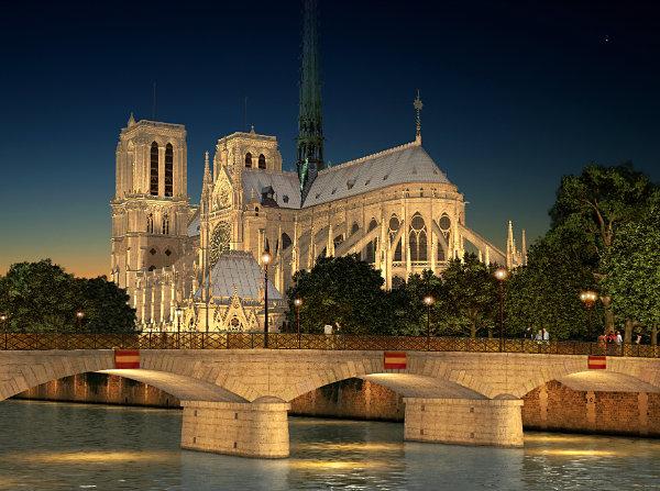 Мост Архиепархии в Париже